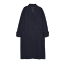 KAI OVERFIT TRENCH COAT WOMEN_NAVY(KQATC747W0)
