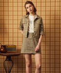 [SET] MA CHECK JACKET + MA CHECK SKIRT (BEIGE)