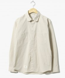 Plaid Gingham Check Shirts Beige