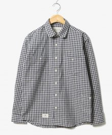 Plaid Gingham Check Shirts Navy