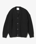 Round Neck Cardigan [Black]