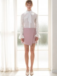 PINK DIAGONAL SKIRT