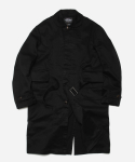 BELTED SINGLE COAT _ BLACK