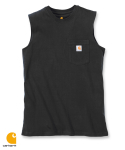 칼하트() WORKWEAR POCKET SLEEVELESS T-SHIRT (BLACK)