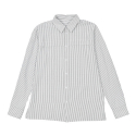 카이아크만(KAI-AAKMANN) FRONT POINT BASIC STRIPE SHIRTS_LIGHT GREY(KQASH698M0)