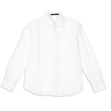카이아크만(KAI-AAKMANN) HIDDEN BUTTON LINEN SHIRTS_WHITE(KQASH699M0)