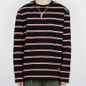 3LINE STRIPE L/S TEE (BLACK)