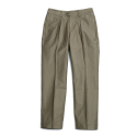 Millspaugh One tuck Cotton Pants Olive