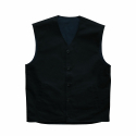 Reversible 10s Canvas Vest (Dead Black / Dark Navy)