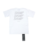 돈애스크마이플랜(DAMP) THREE STAGE LOGO TEE_WHITE