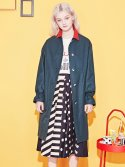 블랭크(BLANK) COLOR LONG COAT-GN