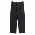Navy Wide Belt Pants