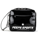핍스(PEEPS) [핍스] PEEPS retro 80 enamel cross bag(black)