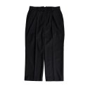 비슬로우(BESLOW) 18SS STANDARD CROP SEMI WIDE SLACKS BLACK