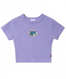 (W) Oring Crop T - Purple