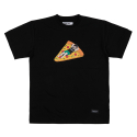 스탠다드커브(STANDARD CURVE) STV. PIZZA TUBE TEE BLACK