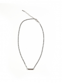 THIN CHAIN NECKLACE (SILVER)