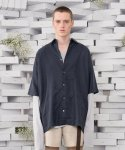 뷔엘(VUIEL) UNBALANCED TUXEDO SILKET SHIRT _ PURPLE NAVY