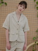 MH6 LINEN WAIST TAPE JACKET_BE
