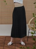 일일오구스튜디오(1159STUDIO) MH6 DOT PLEATS SKIRT_BK