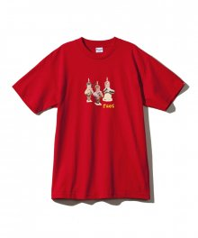 BURNING CANDLES T-SHIRT / RED