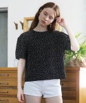 살롱 드 욘(SALON DE YOHN) Dot Blouse_Black