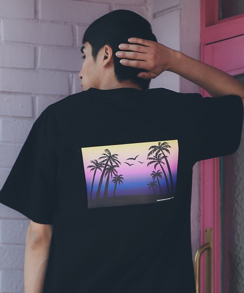 카멜워크(CAMEL WORK) Sunset S/S T-Shirts(Black)