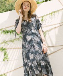 Forest Vacance Dress_Navy