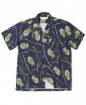 아웃스탠딩(OUTSTANDING) PINEAPPLE HAWAIAN SHIRT[NAVY]