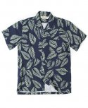 아웃스탠딩(OUTSTANDING) LEAF HAWAIAN SHIRT[NAVY]