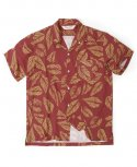 아웃스탠딩(OUTSTANDING) LEAF HAWAIAN SHIRT[WINE]