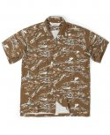 아웃스탠딩(OUTSTANDING) SURFING HAWAIAN SHIRT[BROWN]