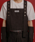 이에스씨 스튜디오(ESC STUDIO) Button denim vest (Black)