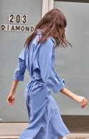 누보텐(NUVO10) wrapped shirt dress
