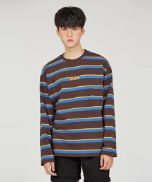 MOTH STRIPE TS [BROWN]