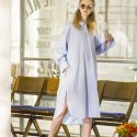 우아솜메(OUAHSOMMET) Maxi Shirt Dress[BLUE GRAY]