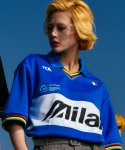 씨오엠이(COME) [UNISEX] Rainbow Pique Polo Shirt (Blue)