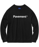 페이브먼트(PAVEMENT) BASIC SALES CREWNECK HS [BLACK]