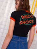 딤에크레스() DISCO SHOCK CROP T-SHIRT_BLACK
