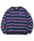 Multi Striped Crewneck Navy/Purple