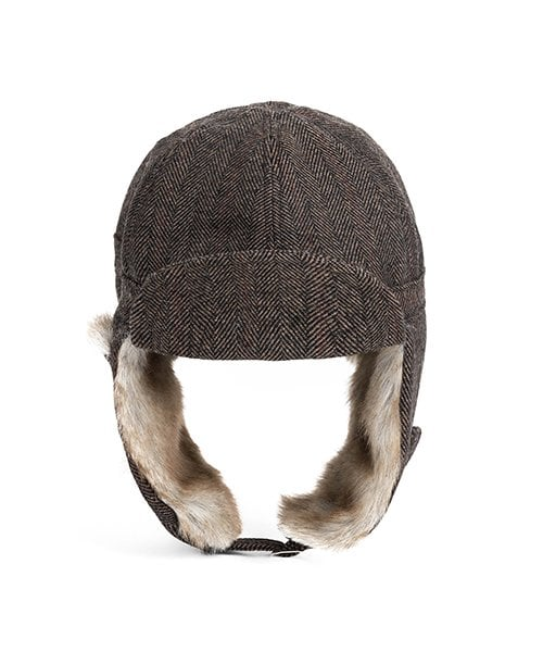 a6019406722 와일드 브릭스(WILD BRICKS) HERRINGBONE TRAPPER HAT(brown) - 53