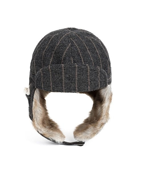 ef3501f6856 와일드 브릭스(WILD BRICKS) HERRINGBONE TRAPPER HAT(grey) - 53