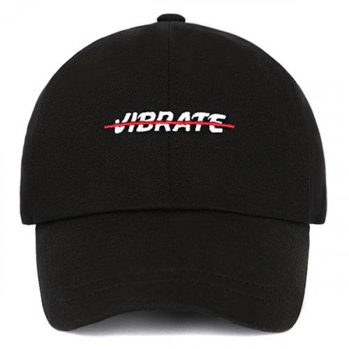 23a925a6e6781 바이브레이트(VIBRATE) RED CROSSLINE BALL CAP (BLACK) - 68
