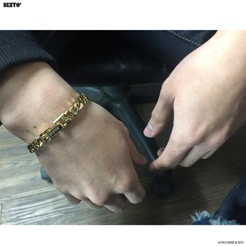 [섹스토] (변색x)M-1 chain bracelet (gold)
