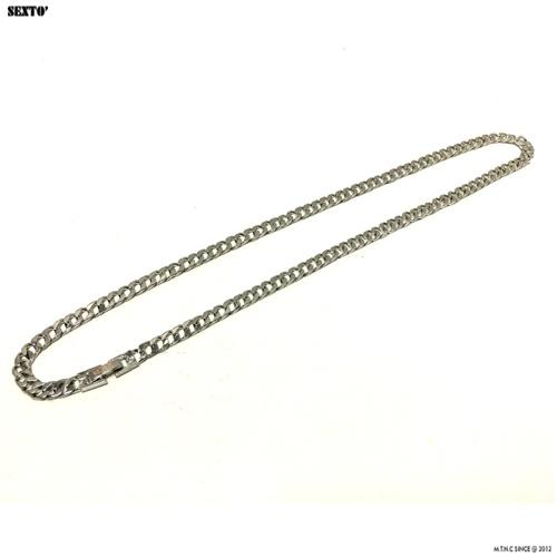 [섹스토] (변색x)M-1 chain necklace(silver)