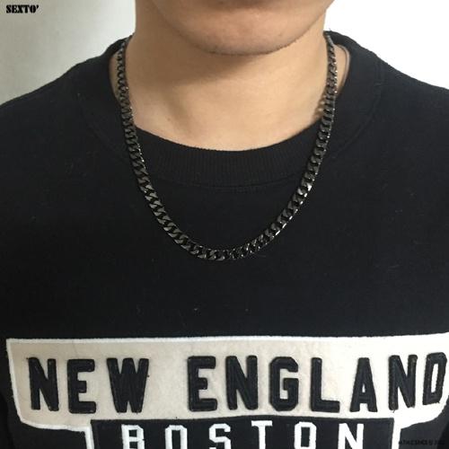 [섹스토] (변색x)M-1 chain necklace(black)