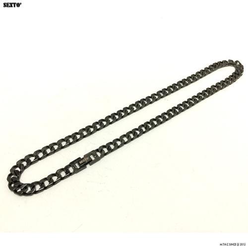 [섹스토] (변색x)M-3 chain necklace(black)