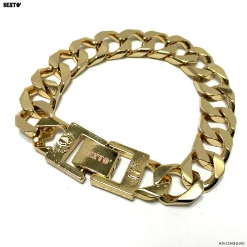 [섹스토] (변색x)M-5 chain bracelet(gold)