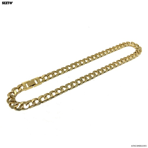 [섹스토] (변색x)M-5 chain necklace(gold)