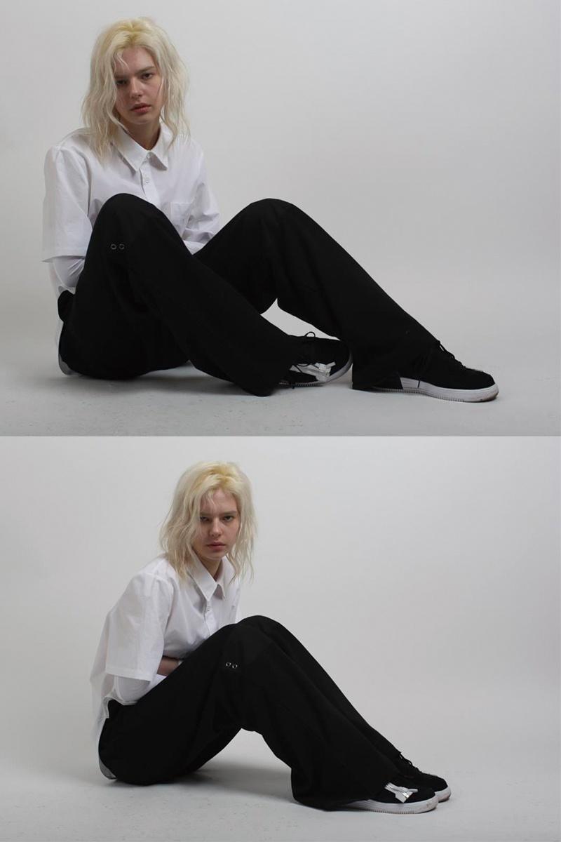 슬링키(SLINKY) WIDE JERSEY PANTS BLACK